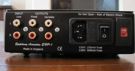 Epiphany Acoustics EHP-1 Headphone Amplifier back