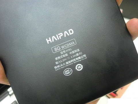 Haier HaiPad Android Tablet back