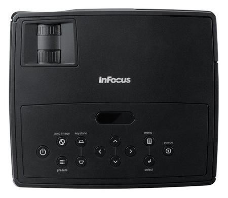 InFocus IN1110 and IN1112 Projectors top