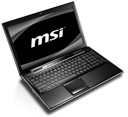 MSI FX620DX Sandy Bridge Notebook with Geforce GT540M