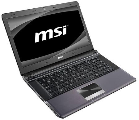 MSI X-Slim X460 Slim Notebook angle