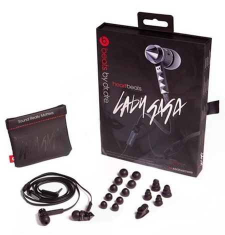 Monster Heartbeats 2.0 by Lady Gaga In-ear Headphones items included