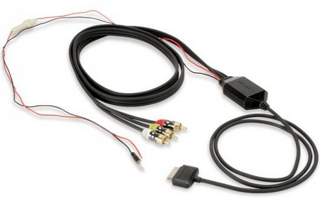 Scosche sneakPEEK auto In-car A V Cable for iPhone, iPod, iPad 1