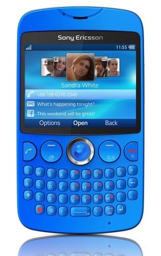 Sony Ericsson txt QWERTY Phone blue