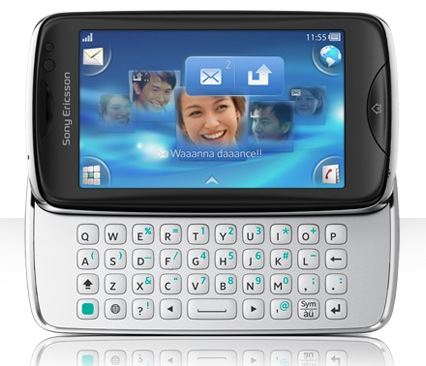 Sony Ericsson txt pro with QWERTY Keyboard and Touchscreen 2