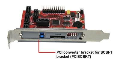 Addonics 5-Port HPM-XU Port Multiplier with eSATA and USB 3.0 with PCI Converter Bracket PCISCBKT