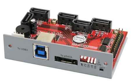 Addonics 5-Port HPM-XU Port Multiplier with eSATA and USB 3.0