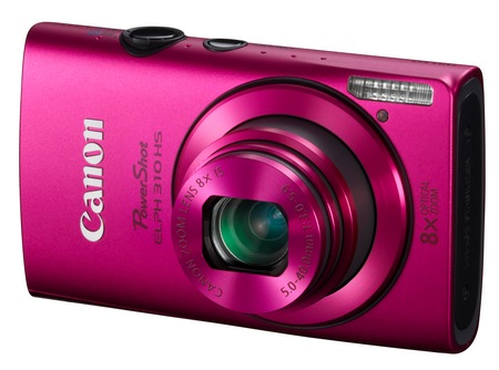 Canon PowerShot ELPH 310 HS 8x zoom compact digital camera pink