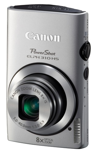 Canon PowerShot ELPH 310 HS 8x zoom compact digital camera silver