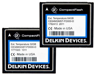 Delkin High Performance Extended Temperature CompactFlash Memory Cards