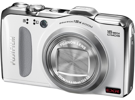 FujiFilm FinePix F600 EXR 15x Zoom Digital Camera white