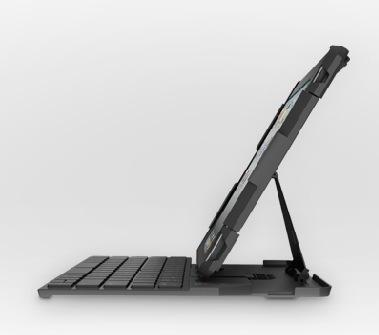 Logitech Fold-Up Keyboard for iPad 2 side