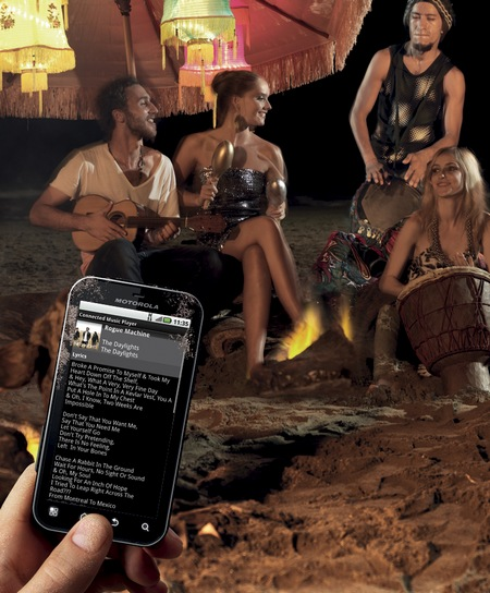 Motorola DEFY+ Rugged Android Smartphone beach