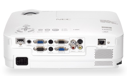 NEC NP-V300W Mobile Projector back