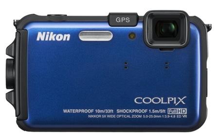 Nikon CoolPix AW100 Rugged Digital Camera blue