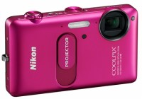 Nikon CoolPix S1200pj Digital Camera with built-in Projector pink 1