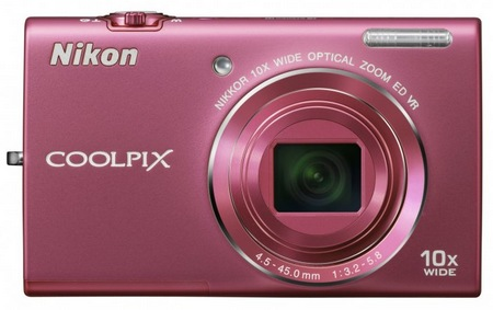 Nikon CoolPix S6200 Compact 10x Zoom Camera pink