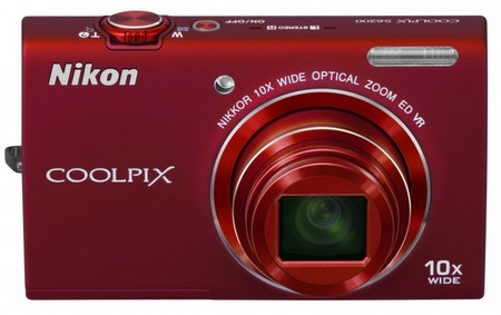 Nikon CoolPix S6200 Compact 10x Zoom Camera red