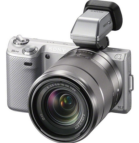 Sony NEX-5N Compact Interchangeable Lens Camera with viewfinder