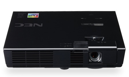 NEC NP-L50W Lightweight LED Projector top