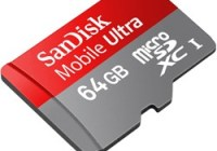 SanDisk Mobile Ultra 64GB microSDXC Memory Card.
