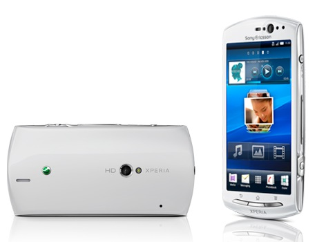 Sony Ericsson Xperia neo V Android Phone front back