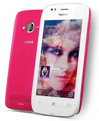 Nokia Lumia 710 Windows Phone 7.5 Smartphone pink