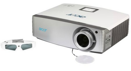 Acer H9500BD Full HD 3D Projector with 3d glasses