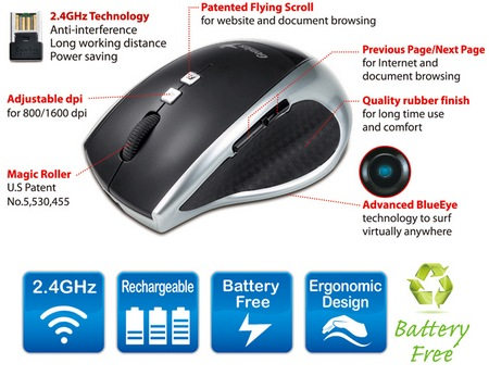 Genius DX-ECO Battery-Free BlueEye Mouse 1