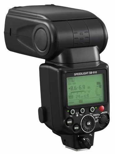 Nikon Speedlight SB-910 DSLR Flash angle