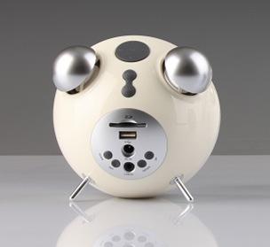 Edifier Tick Tock Bluetooth Speaker Alarm Clock 60s white