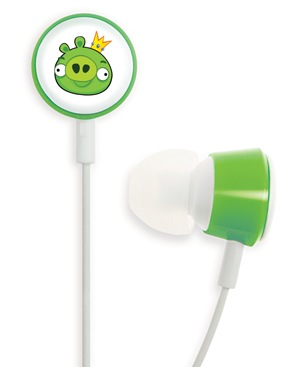 Gear4 Angry Birds Tweeters - the Official Angry Birds Headphones green pig