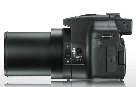 Leica V-LUX 3 is a rebranded Panasonic Lumix FZ150 side