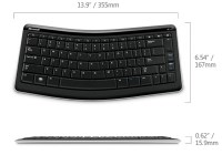 Microsoft Bluetooth Mobile Keyboard 5000 compatible with Tablets dimension