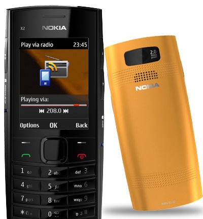 Nokia X2-02 Dual-SIM Music Phone orange