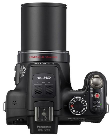 Panasonic Lumix DMC-FZ150 24x Super-Zoom Camera top
