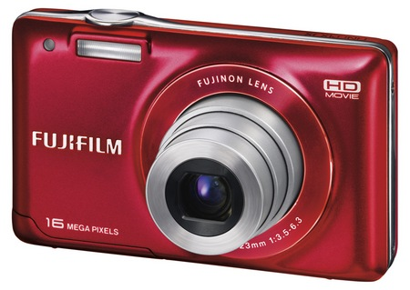 Fujifilm FinePix JX580 Digital Camera Red Front Left