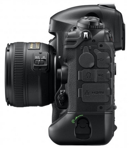 Nikon D4 Digital SLR side