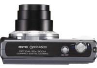 Pentax Optio VS20 Digital Camera with Vertical Shutter Button top