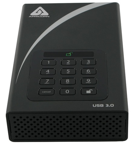 Apricorn Aegis Padlock DT USB 3.0 Encrypted Desktop Hard Drive 1