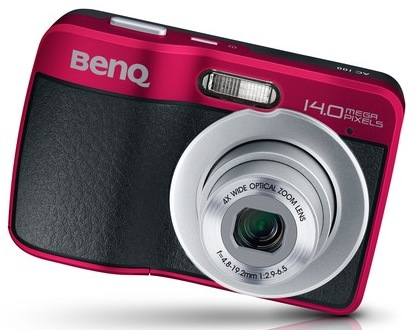 BenQ AC100 Digital Camera red