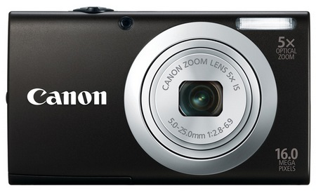 Canon PowerShot A2400 IS digital camera black