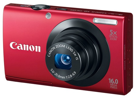 Canon PowerShot A3400 IS digital camera red