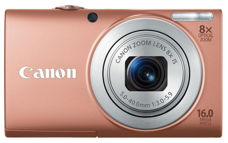Canon PowerShot A4000 IS digital camera pink