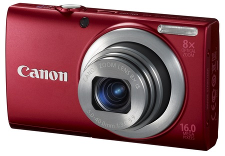 Canon PowerShot A4000 IS digital camera red