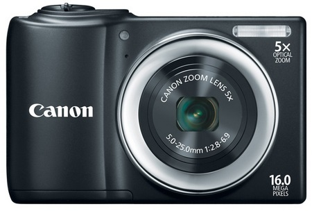 Canon PowerShot A810 Digital Camera uses AA Batteries black
