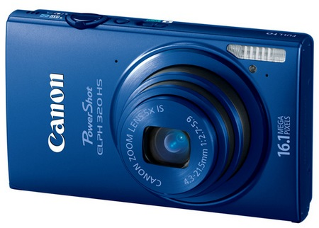 Canon PowerShot ELPH 320 HS Digital Camera blue