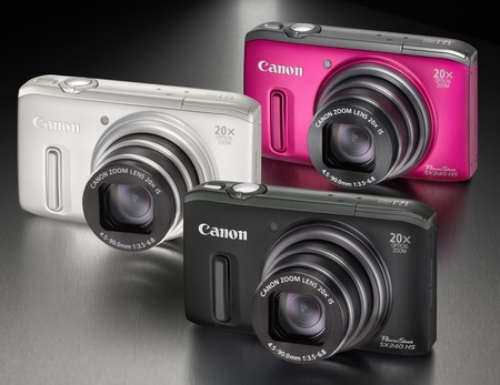 Canon PowerShot SX240 HS 20x zoom digital camera colors