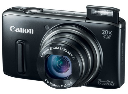 Canon PowerShot SX260 HS GPS 20x zoom digital camera black