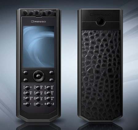 Gresso Grand Monaco Pure Black Cayman Luxury Phone